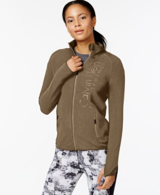 Calvin Klein Performance Fleece Jacket - Jackets - Women - Macy's