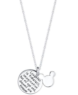 Disney mickey mouse inspirational pendant necklace in sterling disney mickey mouse inspirational pendant necklace in sterling silver aloadofball Choice Image
