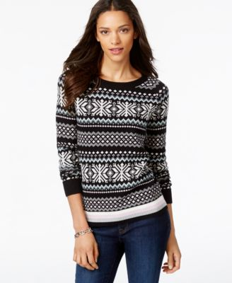 Tommy Hilfiger Whimsical Sweater, Squirrel Graphic - Sweaters ...