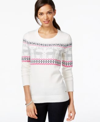 Tommy Hilfiger Whimsical Sweater, Reindeer Fairisle - Sweaters ...
