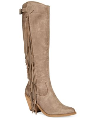 Carlos by Carlos Santana Lever Fringe Boots - Boots - Shoes - Macy's