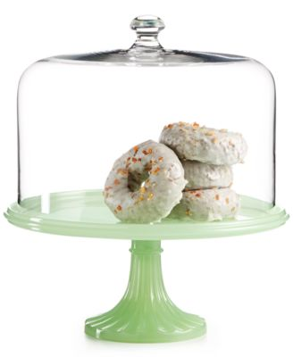 Martha Stewart Collection Jadeite Cake Stand with Dome, Only at Macy's