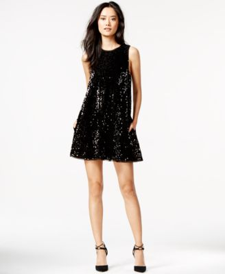 Rachel roy black leather dress