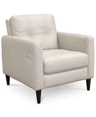Almafi Leather Living Room Chair Furniture Macy S