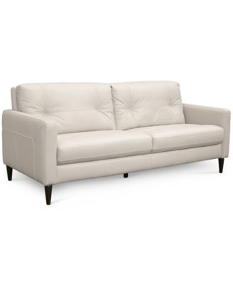 Macys Top Grain Leather Sofa