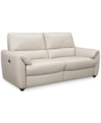 Hansin 2 Pc. Power Reclining Leather Sofa, Only At Macyu0027s