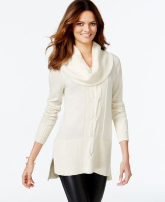 Style & Co. Petite Cowl-Neck Sweater - Sweaters - Women - Macy's