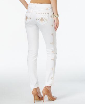 INC International Concepts Regular-Fit Straight-Leg Embellished ...