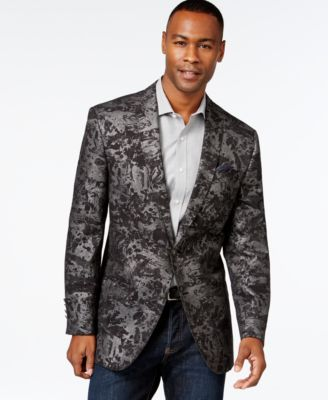 Tallia Big & Tall Textured Velvet Solid Sport Coat - Blazers ...