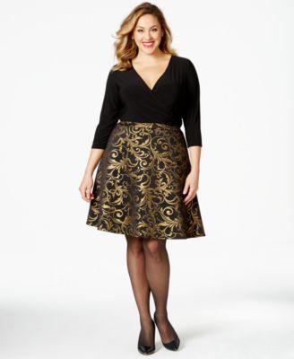 Plus size brocade dress