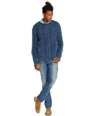 Denim & Supply Ralph Lauren Cable-Knit Cotton Sweater - Sweaters ...
