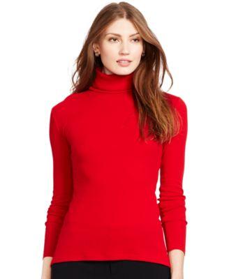 Lauren Ralph Lauren Petite Ribbed Turtleneck Sweater - Sweaters ...