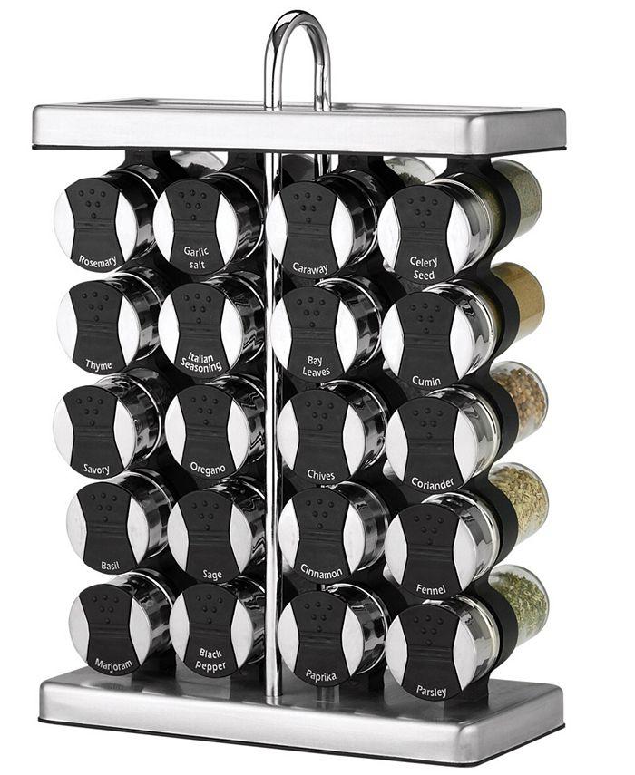 Martha Stewart Collection - Space Saver Spice Rack, 20-Piece Set
