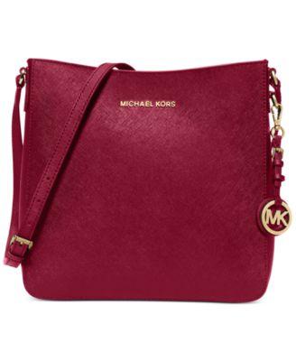 MICHAEL Michael Kors Jet Set Travel Large Saffiano Messenger Bag - Handbags \u0026amp; Accessories - Macy\u0026#39;s