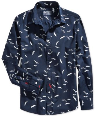 American Rag Flock-Print Button-Front Shirt - Casual Button-Down ...