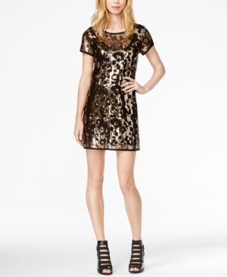 GUESS Leopard Sequin Dress - Dresses - Women - Macy&-39-s