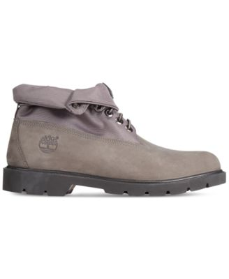 timberland roll top premium boots mens grey