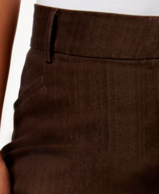 plus size brown jeans - Jean Yu Beauty