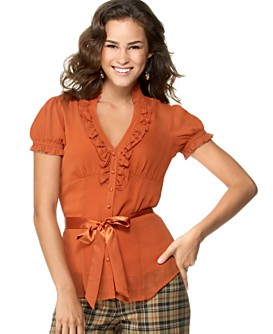 Macy*s - Women's - XOXO Ruffled Chiffon Blouse