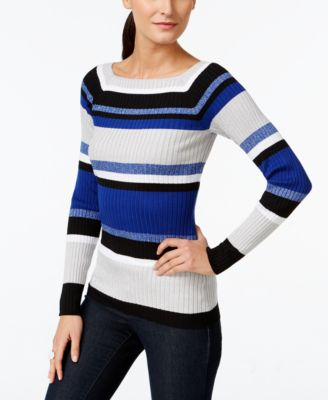 INC International Concepts Striped Ribbed Sweater, Only at Macy's ...