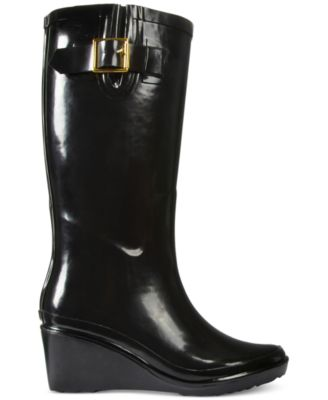 Giani Bernini Alley Wedge Rain Boots, Only at Macy's - Boots ...
