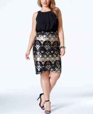 Trixxi Plus Size Sleeveless Halter Dress - Dresses - Plus Sizes ...