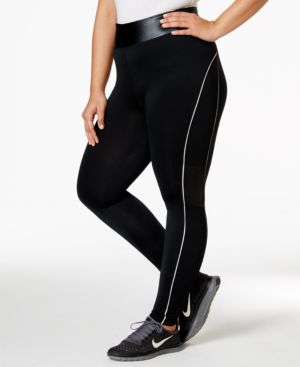 Jessica Simpson The Warm Up Plus Size Reflective Active Leggings