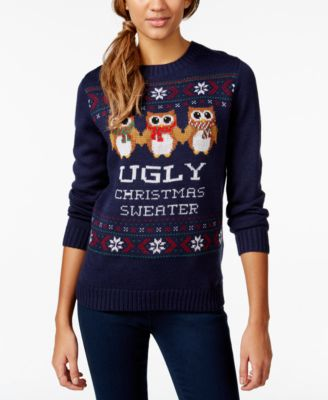 Belle Du Jour Juniors' Ugly Christmas Pullover Sweater - Sweaters ...