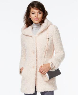 Bar III Faux-Shearling Coat - Coats - Women - Macy&39s