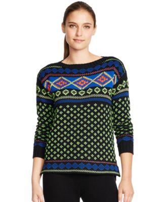 Lauren Ralph Lauren Fair Isle Bateau-Neck Sweater - Sweaters ...