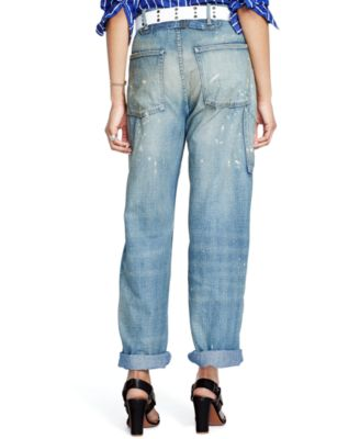 Polo Ralph Lauren Paint-Splattered Wide-Leg Jeans - Jeans - Women ...