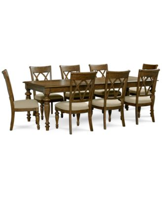 Oak Harbor 9 Piece Dining Set (Dining Table, 6 Side Chairs And 2 Arm