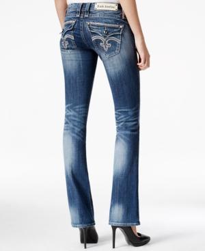 Rock Revival Sasha Embellished Bootcut Jeans  Dark Blue Wash