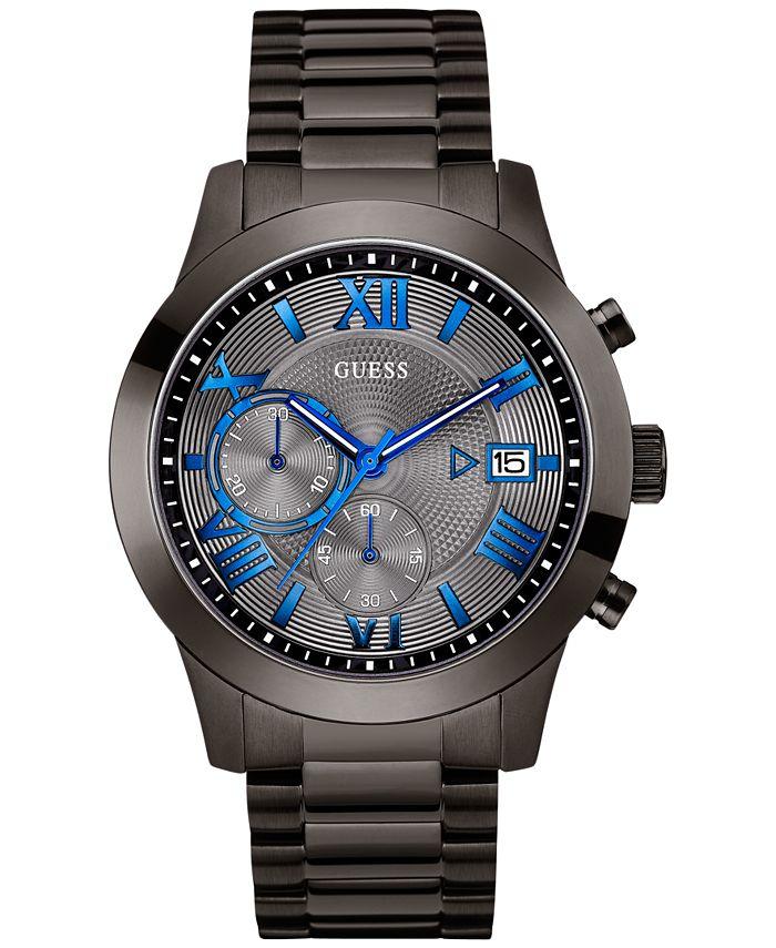 GUESS - Men's Chronograph Gunmetal Stainless Steel Bracelet Watch 45mm U0668G2