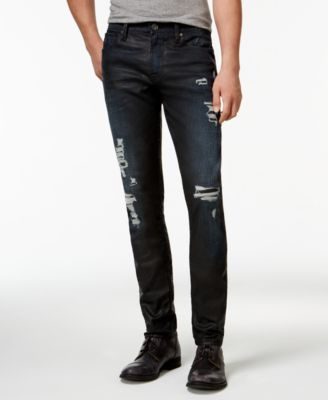 GUESS Slim-Fit Tapered Destroyed Jeans - Jeans - Men - Macy's