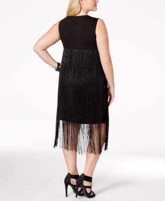 Harper & Liv Plus Size Sleeveless Fringe Dress - Dresses - Plus ...