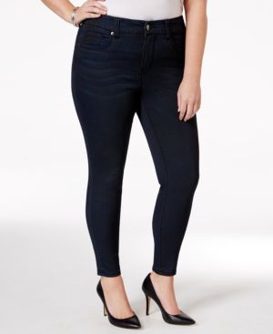 Melissa McCarthy Seven7 Plus Size Skinny Pencil Blue Wash Jeans