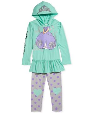 Disney's Sofia The First Little Girls' 2-Piece Hoodie & Leggings Set, Little...