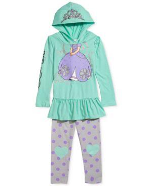 Disney's Sofia The First Little Girls' 2-Piece Hoodie & Leggings Set, Little...