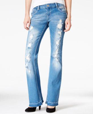 Ariya Juniors' Prado Ripped Medium Wash Flared Jeans - Jeans ...