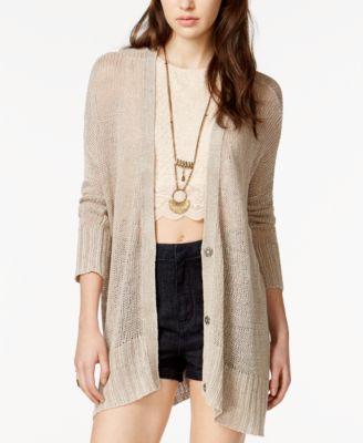 Free People Vee Vee Linen Cardigan - Women's Brands - Women - Macy's