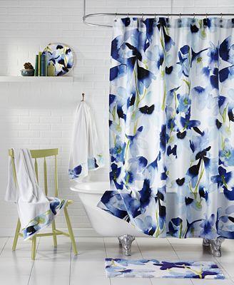bluebellgray skye shower curtains - bathroom accessories - bed