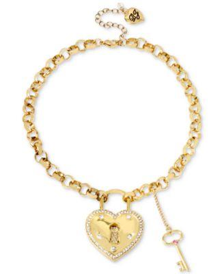 Betsey johnson gold tone pav crystal heart lock pendant necklace betsey johnson gold tone pav crystal heart lock pendant necklace aloadofball Gallery