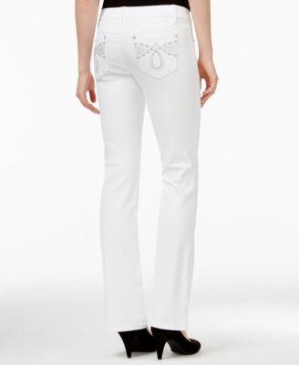 White Bootcut Jeans Juniors - Xtellar Jeans