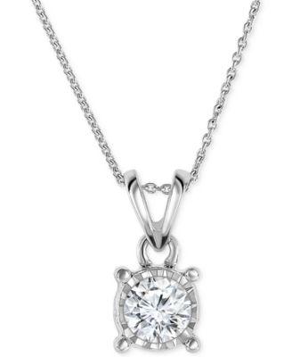 Trumiracle diamond bezel pendant necklace in 14k white gold 12 trumiracle diamond bezel pendant necklace in 14k white gold 12 ct tw aloadofball Images