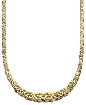 14k Gold Byzantine Necklace - Gold Necklaces