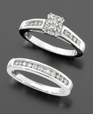 14k White Gold Diamond 2-Piece Bridal Set (1/2 ct. t.w.)