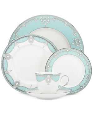 Marchesa by Lenox Empire Pearl Turquoise Bone China 5-Pc. Place Setting 2583448