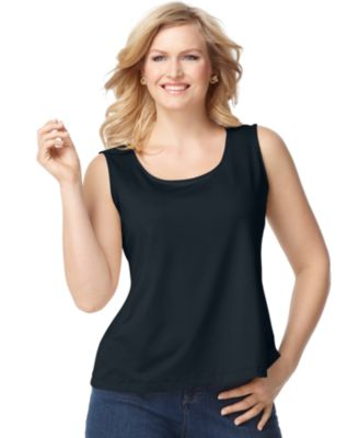 Style & Co. Plus Size Built-In Shelf Bra Tank Top, Only at Macy's ...