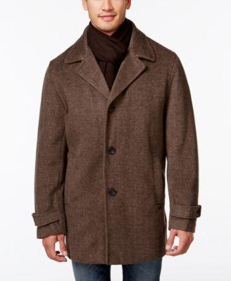 Calvin Klein Big and Tall Melton Classic Car Coat - Coats